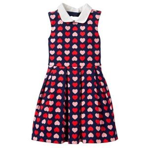 Janie And Jack Valentines Heart Collared Dress